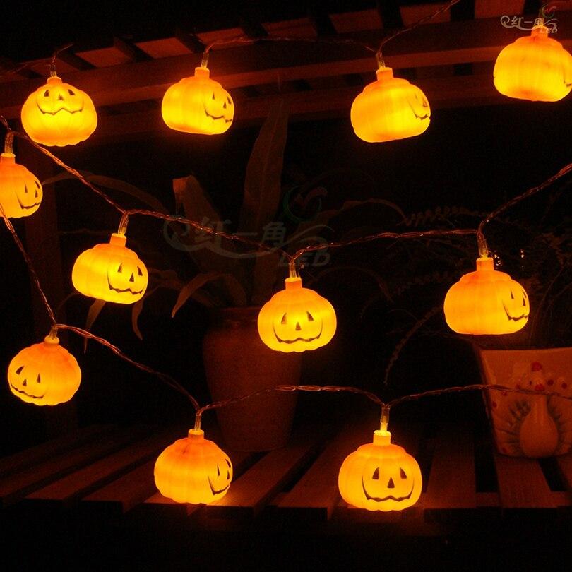 10leds 20leds 30leds Pumpkin Led String Lights Hanging Pumpkin Fairy Lights For Halloween Party Christmas Decorations Gerlyanda