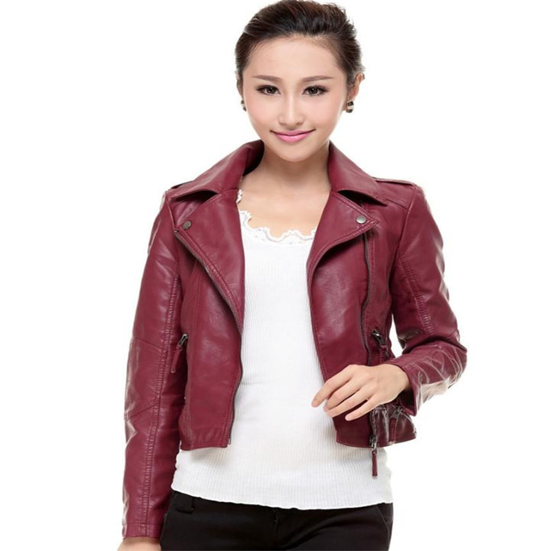 S-3XL Spring new locomotive pu   leather   jacket coat short paragraph small coat street fashion British washed pu   leather   jacket