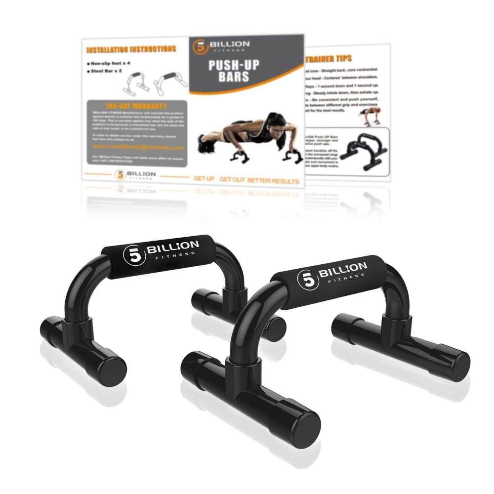 5BILLION Fitness Push Up Bar Push-Ups Stands Bars For Building Chest Muscles Home Or Gym Exercise Training