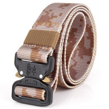 Army Belt Nylon Canvas Breathable Camouflage Military Tactical Men Waistband Alloy Buckle Mens Belts Jeans Accessories military tactical nylon shotgun belt camouflage light gray