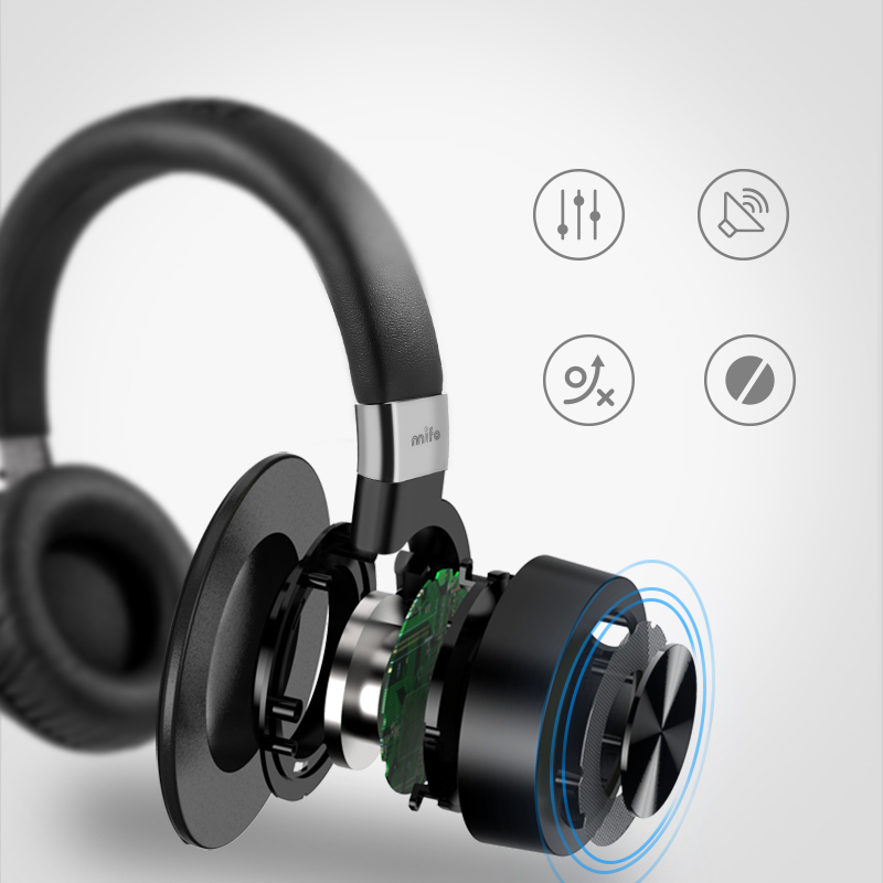 8e3619b5036 Mifo F2 Music Bluetooth Headphones Stereo Bass Headphone wirless noise  cancelling with mic for Iphone xiaomi Samsung Computer -in Bluetooth  Earphones ...
