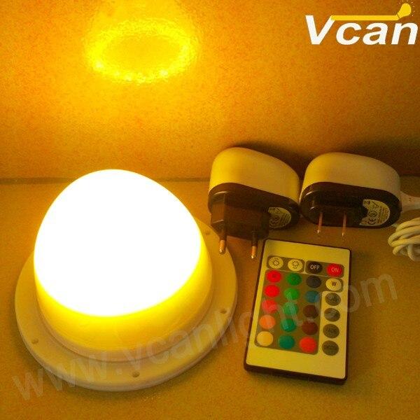 Быстро DHL 16 цвета rgb аккумулятор работает из светодиодов свет с дистанционным управлением