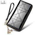 LAZYLIFE Hot New Fashion Design Black Women Wallets Long Zipper Brown Purse Women Clutch Carteira Masculina Porte Monnaie