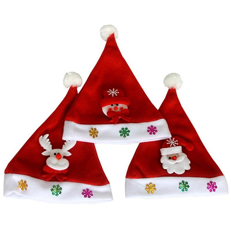 2a4afbbce9c35 Traditional Red And White Christmas Santa Claus Hats For Kids Party Favors  Decoration-in Christmas Hats from Home   Garden on Aliexpress.com