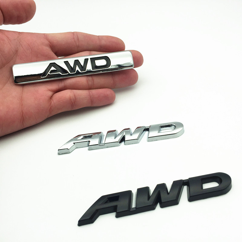 FDIK 3D Metal Logo Car Sticker <font><b>Emblem</b></font> Auto Badge Decal For AWD <font><b>BMW</b></font> Audi Ford VW Nissan Toyota 4X4 4WD All Wheel <font><b>Drive</b></font> SUV image