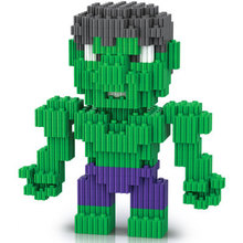 Small particles of miniature diamond blocks Avenger giant assembled educational toys fight assembly.