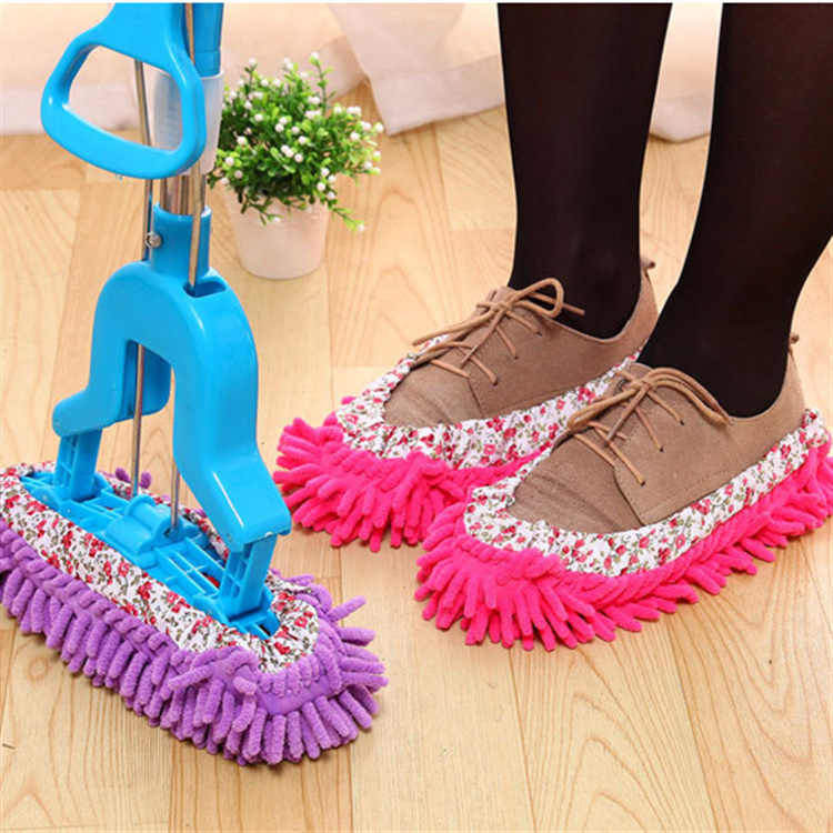 1pc 浴室の床はトップファッション特別提供ポリエステル固体防塵クリーナークリーニングモップスリッパホームクリーニング