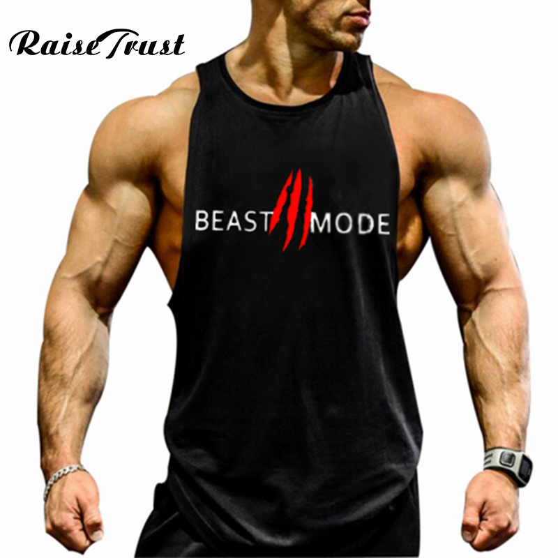 2019 Casual vest men musculation Summer Cotton Fit Men   Tank     Tops   Clothing Bodybuilding Undershirt Men Fitness clothing M-2XL
