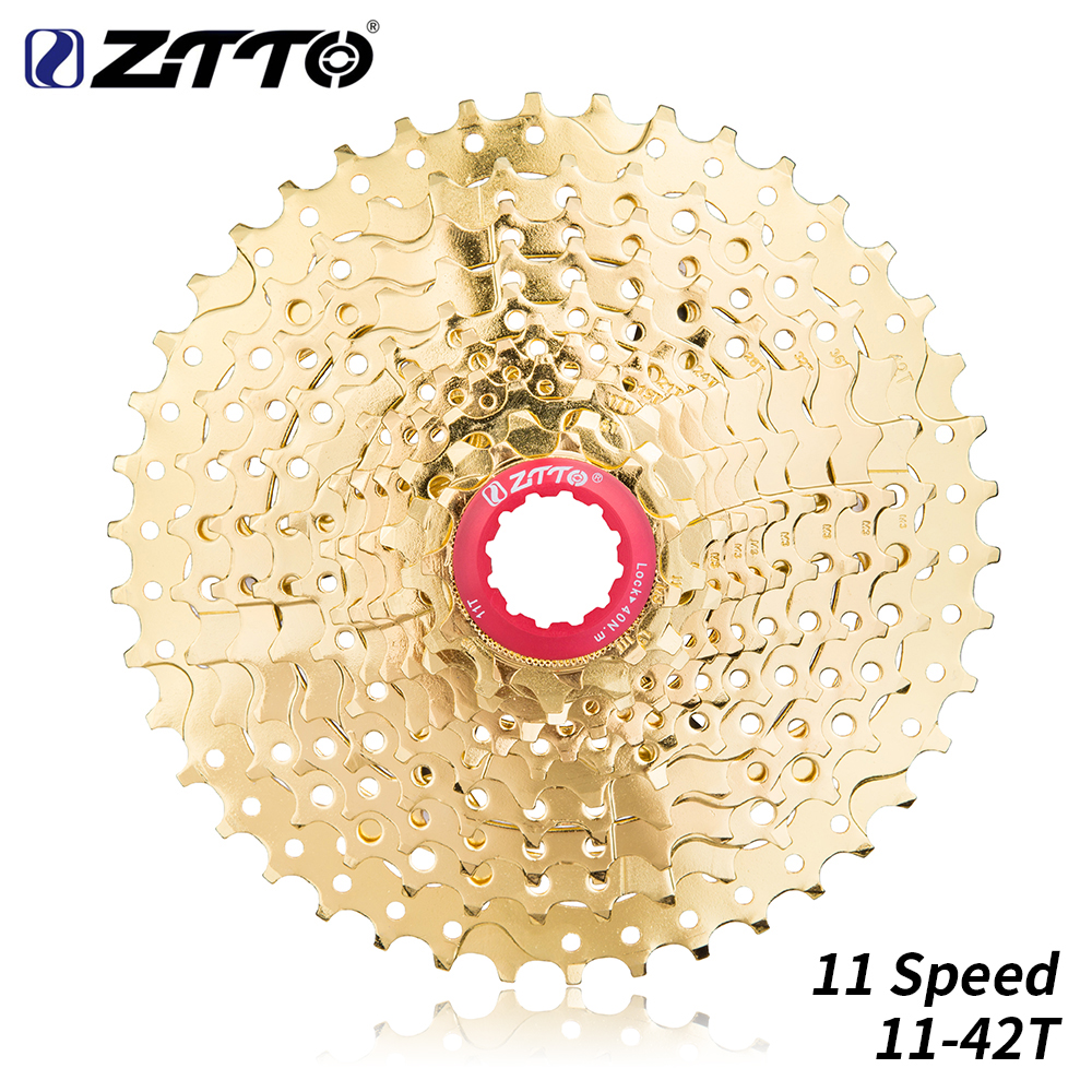 ZTTO 11 Speed 11 42T Golden MTB Moutain Bike Cassette Gold Sprocket Freewheel Bicycle parts for