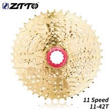 Ztto 11 velocidade 11-42 t dourado mtb moutain bicicleta cassete roda livre roda dentada de ouro peças para xt m8000 slx m7000 k7 nx gx