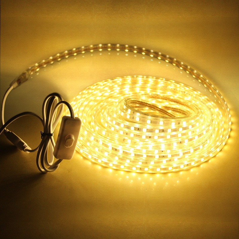 Smd 5050 Led Strip 220v 1M/2M/3M/5M/10M/15M/20M 60leds/m Waterproof Led Ribbon LED Light Strip Christmas Decor Lamp With EU Plug