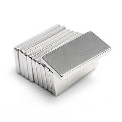 Hakkin 5 шт. супер сильный неодимовый магнит блок кубоид редкоземельные магниты N35 20x10x2 мм