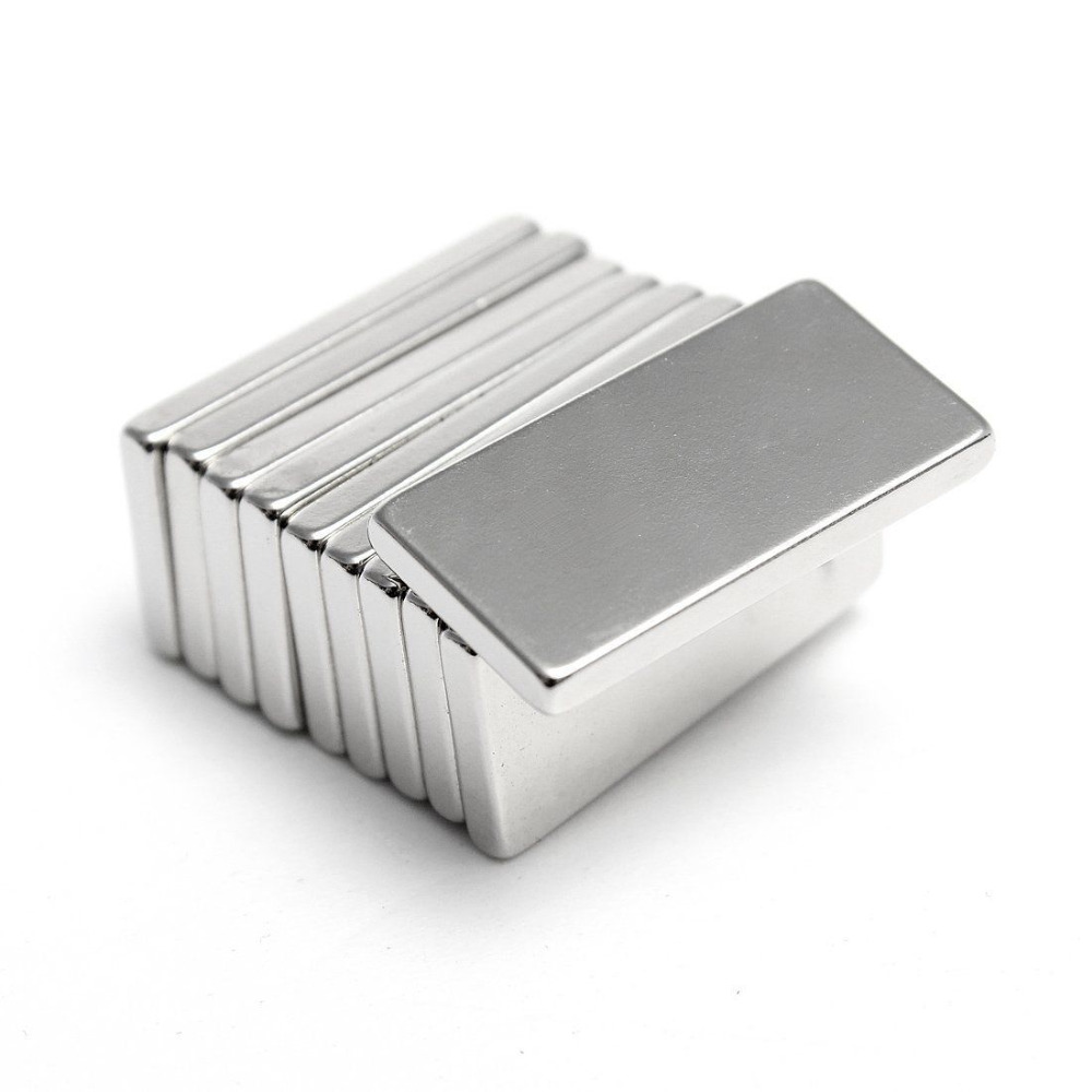 Hakkin 5Pcs Super Strong Neodymium Magnet Block Cuboid Rare Earth Magnets N35 20 x 10 x 2mm hakkin 5pcs super strong neodymium magnet block cuboid rare earth magnets n35 20 x 10 x 2mm