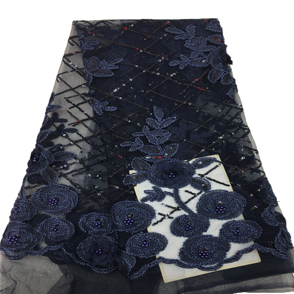 Nigerian Tulle lace fabric with sequin and beads latest Good quality 2018 African beaded lace Fabric with sequins HX362 2 in Lace from Home Garden