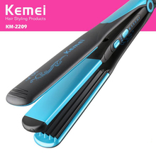 Discount! Kemei 2 in 1 Curling Iron Flat Straightening Curling Styling Tools Hair Straightener Hair Curler EU Plug KM-2209