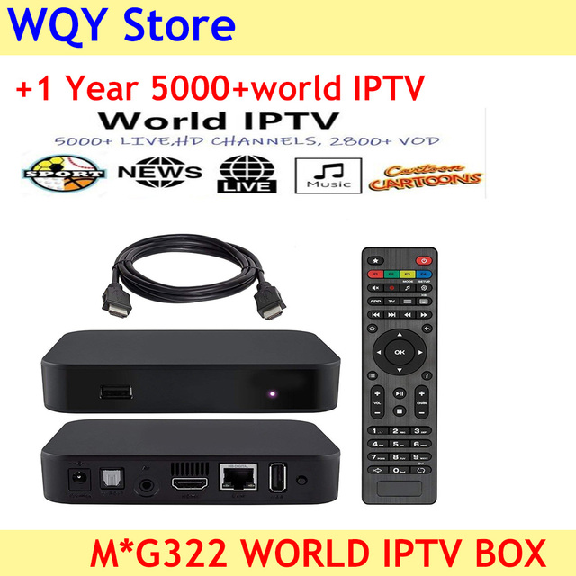 US $107 82 10% OFF|2019 New arrival MAG 322 IPTV Box Linux 3 3 TV Receiver  with 5000+IPTV Italy French Spain Polish Aribic UK Spain Euro american-in