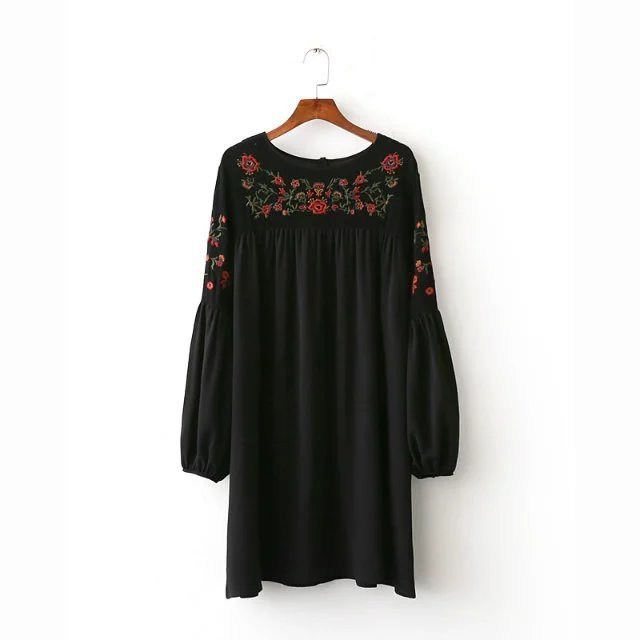 CC48-8164 European and American fashion embroidery dress 1125