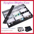 Розничная 18A18B18BK очки дисплей случае прозрачной крышкой дисплей eyeglass box чемодан для проведения 18 шт. солнцезащитных очков
