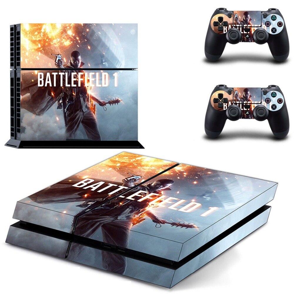 Jeu Battlefield 1 PS4 autocollant de peau vinyle pour Sony Playstation 4 Console et 2 contrôleurs PS4 autocollant de peau