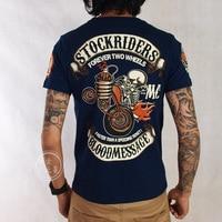Fashion Design Skull Print Forever Two Wheel Stock Rider Men Blood Message Vintage Rock Roll Harley