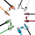 3 em 1 universal tipo c micro usb plano noodle carregamento cabo para iphone xiaomi samsung lg huawei meizu blackberry sincronização data linha