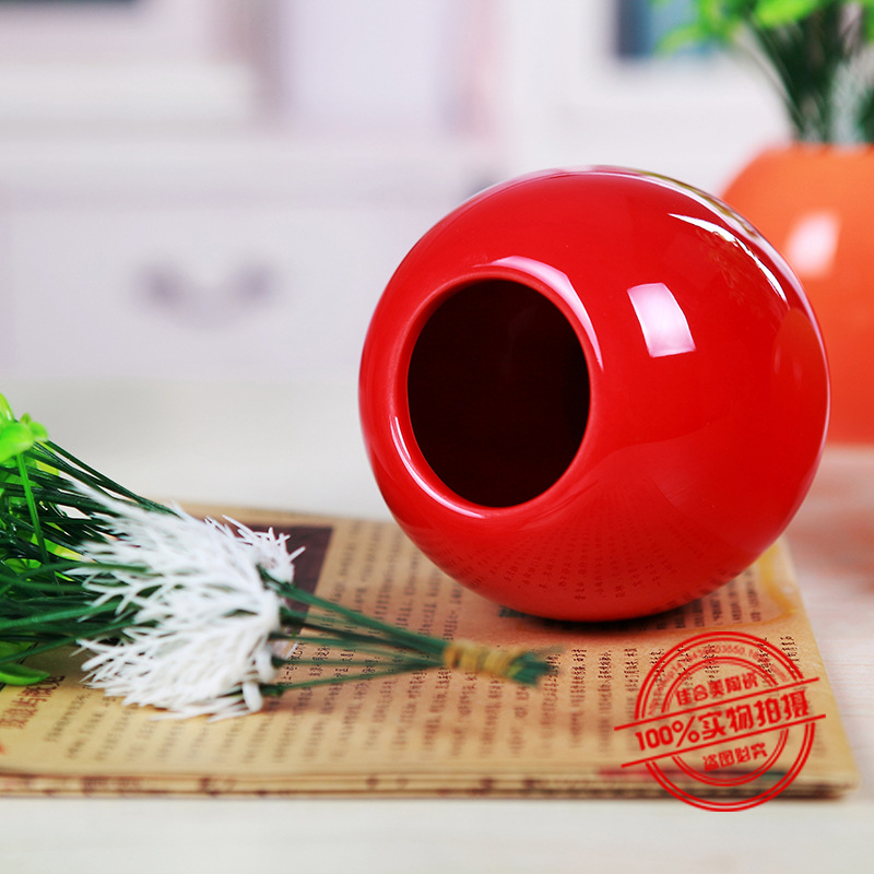 Pure Color Modern Fashion Sprouts Small Vase Cute Home Decorative Flower Jar Pot