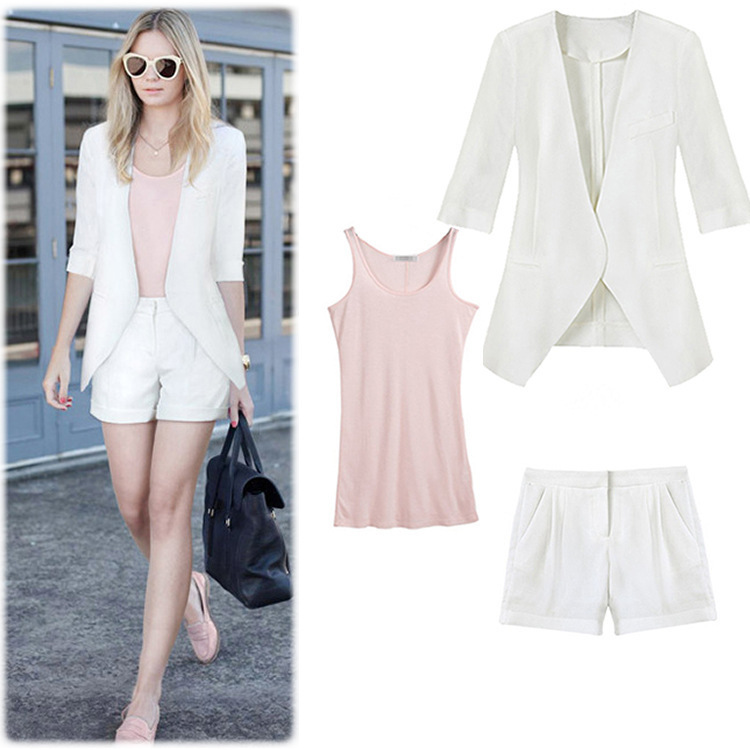 High Fashion Designer 2015 Women 3 Pieces Sets Camis And Shorts ...
