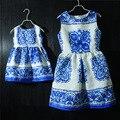 Марка семья посмотрите соответствия одежды печать форма Рукавов мать и дочь платья китайский стиль платья женщин платья