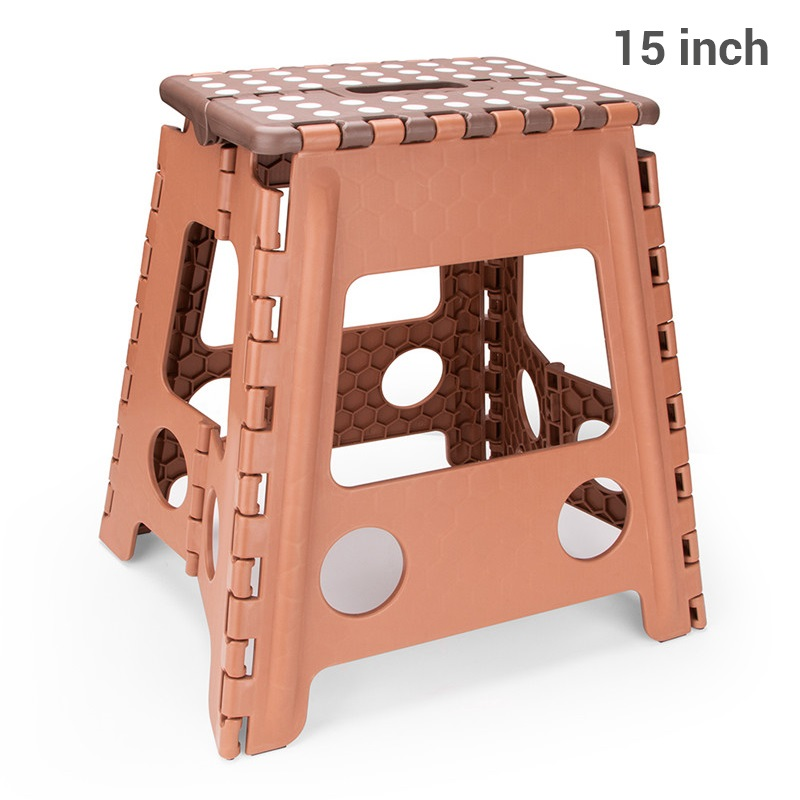 15inch Folding Plastic Chair Foot Step Stool Kitchen Garden Bathroom Toilet Stool Outdoor Portable Hiking Chair Kids Furniture