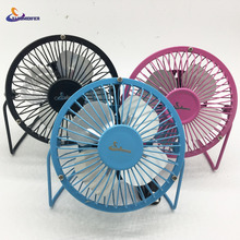 YJ HUMIDIFIER USB Fan Portable DC 5V Small Desk 4 Blades Cooler Cooling Fan USB Mini Fans Operation Super Mute Silent 2.5W