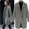2016 Ladies Winter Warm Lapel Trench Wool Long Parka Coat Outwear Jacket
