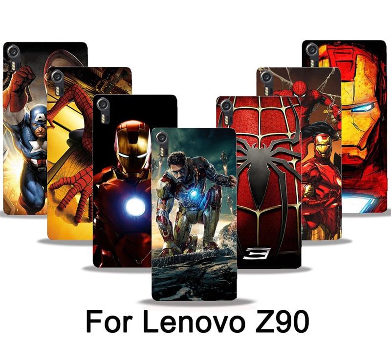 Z90 случаях Дэдпул Комикса Marvel супергероя Железный человек Человек-паук принт чехол для сотового телефона lenovo VIBE Shot Z90 5 случаи крышка Капа