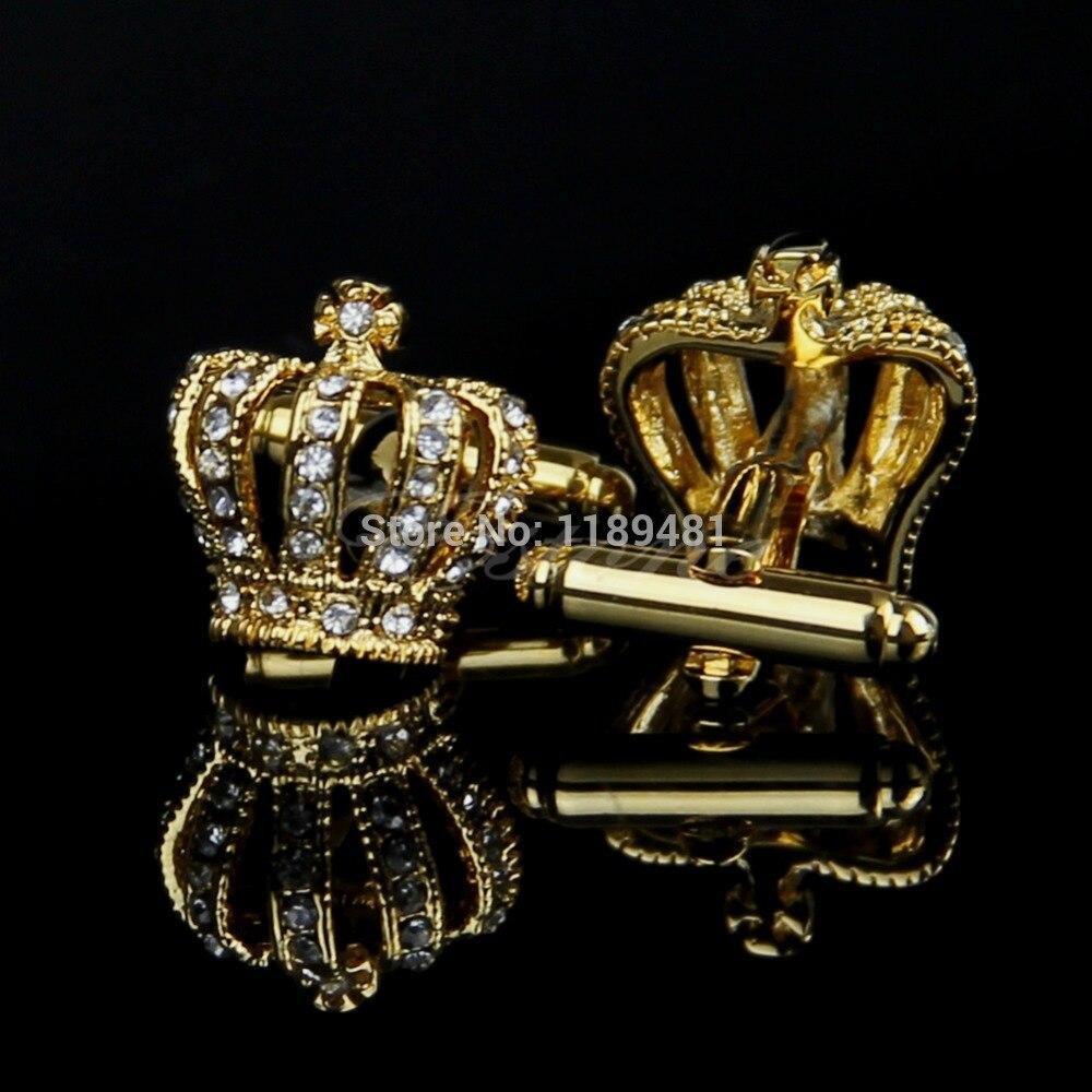 Affidabile In Acciaio Inox Regalo Di Nozze Corona D'oro Gemelli Gemelli Degli Uomini Dell'annata Delle