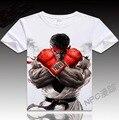 VXO T-shirt dos desenhos animados Bonito T-shirt Street Fighter Ryu Hadoken Fogo Jogo Herói Cosplay top tees Homens Tshirt Verão