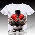 VXO  cartoon T-shirt  Cute Ryu Fire Hadoken Street Fighter T-shirt Game Hero Cosplay top tees  Men Summer Tshirt