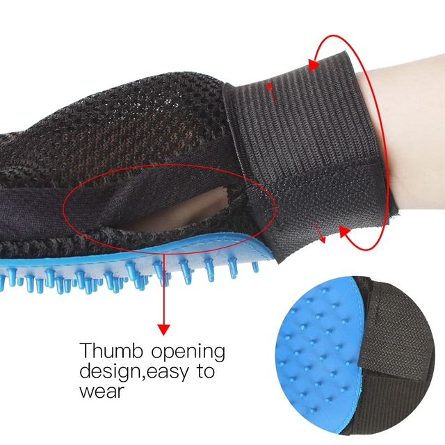 Silicone Pet Dog brush Glove Deshedding Gentle Efficient Pet Grooming Glove Dog Bath Cat cleaning Supplies