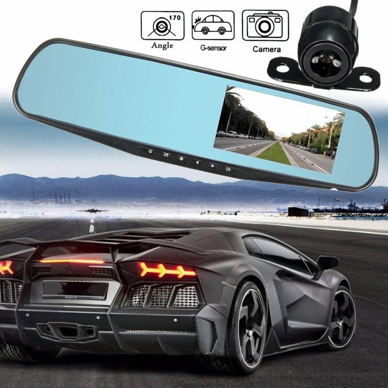 imágenes para Lente Dual Del Coche DVR Espejo Retrovisor Cámara FHD 1080 P Grabador de Vídeo visión nocturna Dash Cam Cámara Monitor de Aparcamiento Automático Anti Espejo DVRs