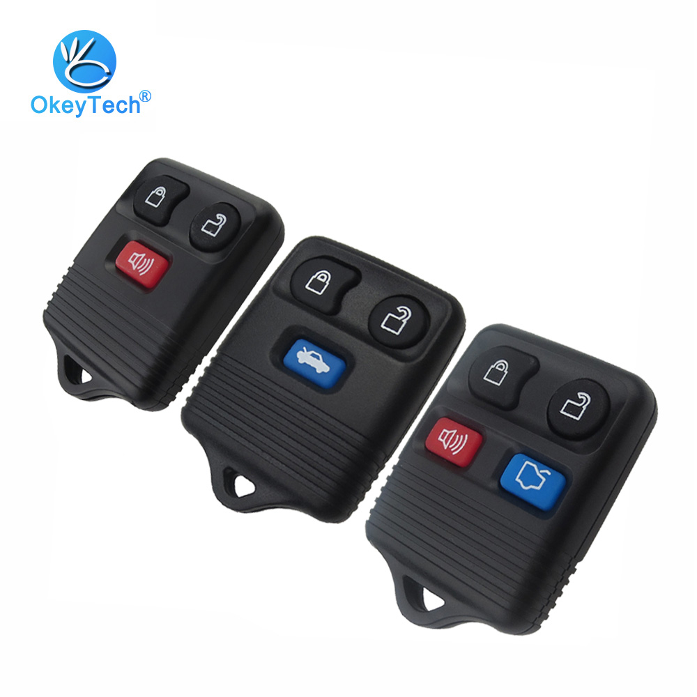OkeyTech 3/4 Button 315/433mhz Keyless Entry Remote Car Key Transit For Ford Escape Town Complete Remote Control Circuid Board possbay retro black motorcycle solo seat with mount bracket springs for harley custom chopper bobber leather saddle seat