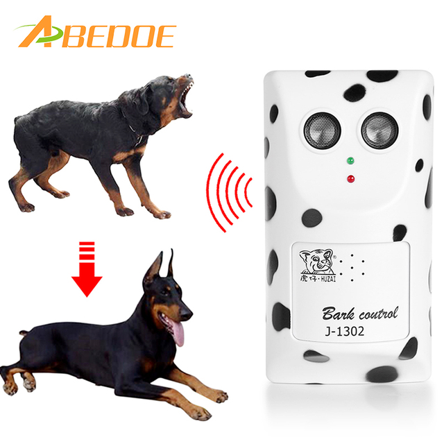 ABEDOE Humanely Ultrasonic Anti Bark Device Stop Barking Machine Control Dog  Barking Silencer Hanger EU USA