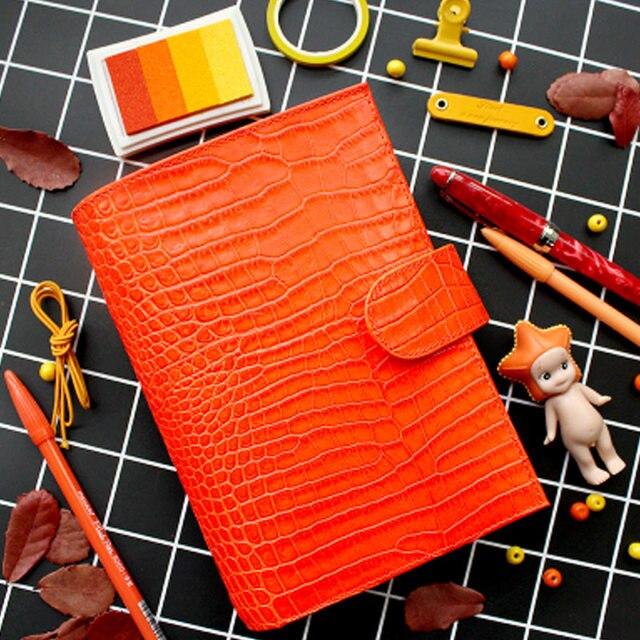 Lederen Ringband Notebook A6 Handgemaakte Persoonlijke Agenda Organisator Koeienhuid Dagboek Journal Sketchbook Planner Geld Pocket