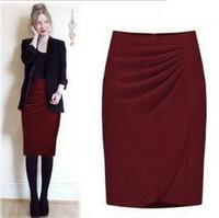 new Classic fashion skirts solid color hip Slim woolen skirtPlus size XXXL