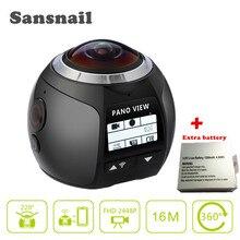 360 Panoramique Caméra Sansnail SV100 360 Caméra Allwinner V3 1440 P 4 K Caméra Étanche Sport 3D VR Vidéos Caméra avec Batterie