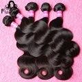 7A Peruvian Virgin Hair Body Wave 4 Bundles Remy Hair Unprocessed Virgin Peruvian Hair Weave Bundles 100 Percent Human Hair