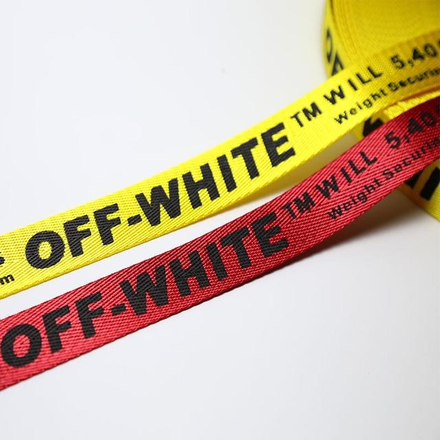 aa3d7da73797 2.5 см средней Толщина Off White печать лента печать письмо пояса Рюкзак  ремень украшения ленты DIY