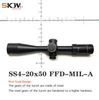 SKWoptics 4 20x50FFD MIL A First Focal Plane ffp rifle scope & mount Long Range Illuminated Hunting Target High quality reticle