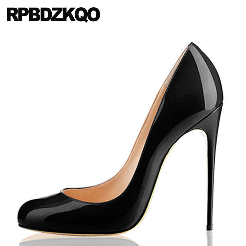 High Heels * schwarz* rot* Lack * fetish* gothic* 12cm