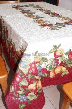 Free shipping-152*213cm-white backing Fruits cloth tablecloths European Figure jacquard fabric