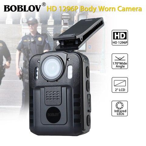 Boblov WN9 Body Worn Camera 1080P 64GB DVR Video Security Cam 170 Degree IR Night Vision Mini Camcorders Pakistan