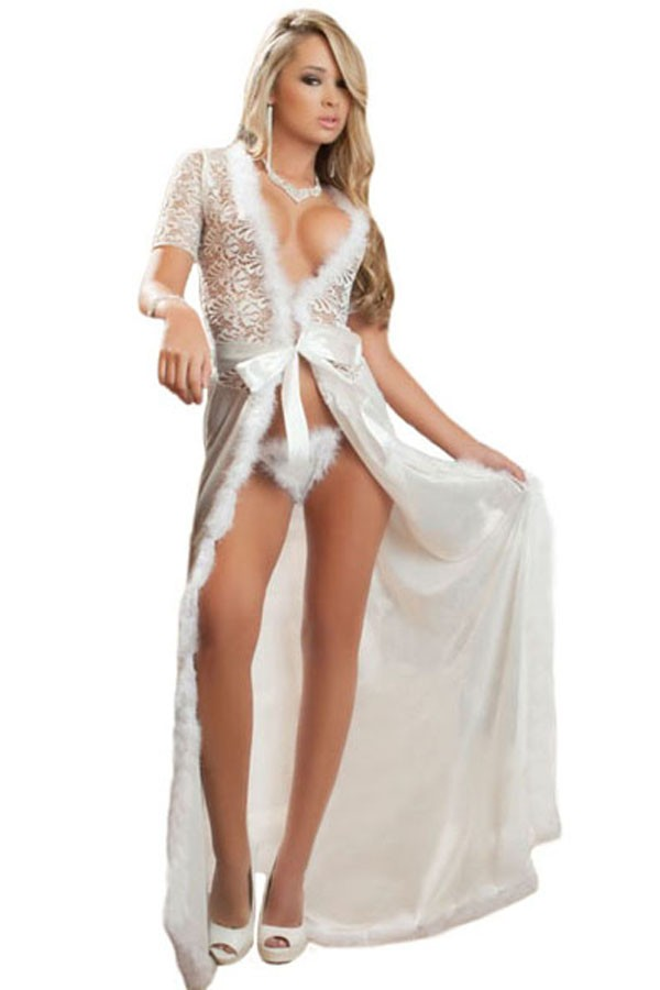 Ivory-Fur-Trim-Glam-Night-Robe-LC60365-1-2