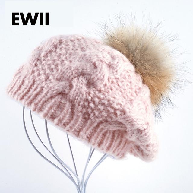 2017 women winter beret cap girl knitted beanie hats for women berets beanies hat bone ladies wool warm bonnet caps bone